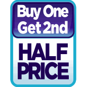 Buy 1 Get 2nd Half Price on Selected Back to School!  Free Shipping on Orders Over £29 excluding large bulky items