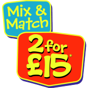 2 for £15 on Selected Toys!