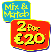 2 for €20 on Selected Toys! Free Delivery on Orders Over €49 excluding large bulky items