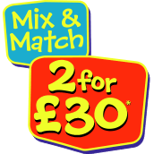 2 for £30 on Selected Toys! Free Express Shipping On Orders Over £49 excluding large bulky goods